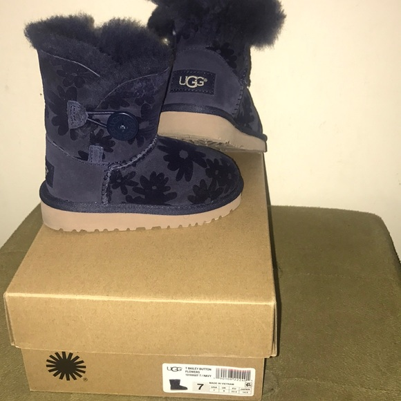 b0aa6486a51 Toddler bailey button uggs with flower print